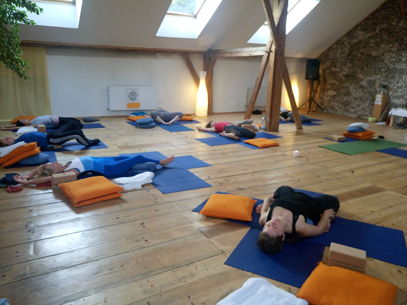 yoga group in europe holiday