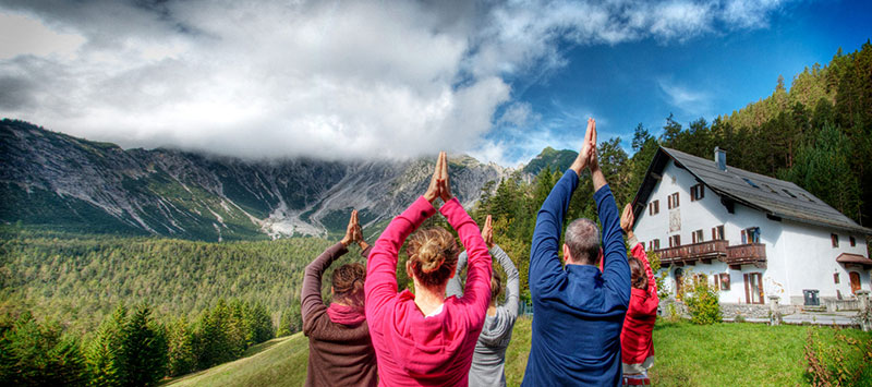 yoga holiday in mountains